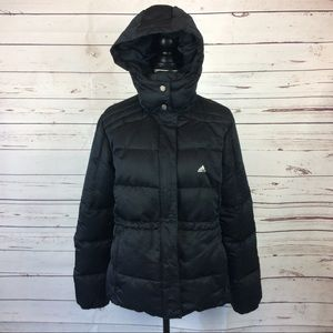 Adidas Black Down Puffer Jacket, Size L